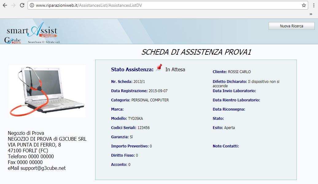 riparazioni web stato scheda assistenza