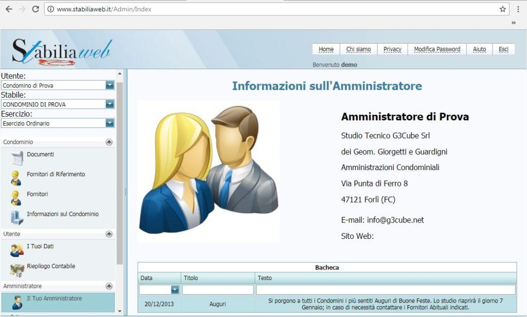 stabilia WEB sito amministratore condominio